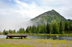 Relaxation in alps nature, austria Stock Photos