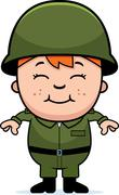 army soldier boy - stock illustration