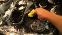 Stove Cleaning 02 HD - stock footage