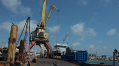 "SEVASTOPOL, CRIMEA/RUSSIA – MAY 23, 2014: Launching of the vessel ""Sevastopol"" Stock Footage"