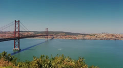 Tagus Bridge , Lisbon Stock Footage