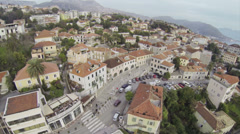 Camera Flying above Herceg Novi Stock Footage