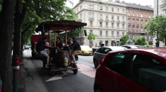 ANDRASSI PEOPLE BUDAPEST 01 Stock Footage