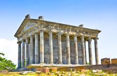 Antique temple in Garni, Armenia Stock Photos