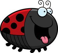 Hungry cartoon ladybug Stock Illustration