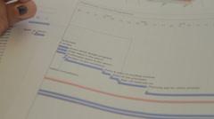 Business Plan Flow Chart - Pan - stock footage