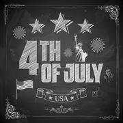 4th of July Background - stock illustration