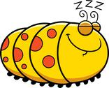 Stock Illustration of sleeping cartoon caterpillar
