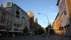 Oranienburgerstrasse with synagoge, UHD 4K Stock Footage