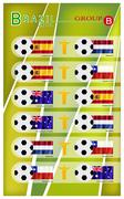 Football Tournament of Brazil 2014 Group B Stock Illustration