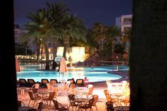 holiday resort at night - stock photo