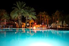 Holiday resort at night time Stock Photos
