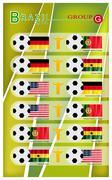Football Tournament of Brazil 2014 Group G - stock illustration