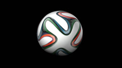 Ball Rotate 02 Animation FIFA World Cup Brazil 2014 Stock Footage