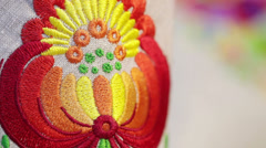 National embroidery Stock Footage