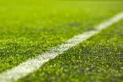 artificial soccer pitch - stock photo