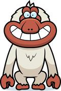 Stock Illustration of cartoon macaque grin
