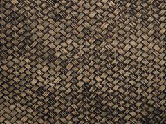 Woven rattan texture background Stock Photos