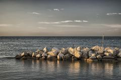 Rocks in the adriatic sea Stock Photos