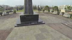 Monument in Podgorica Stock Footage