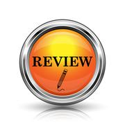 review icon - stock illustration