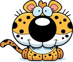 Stock Illustration of cartoon leopard smiling