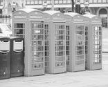 Stock Photo of London telephone box
