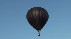 Stock Video Footage of Black hot air ballon