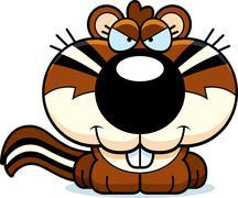 cartoon sly chipmunk - stock illustration