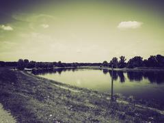 Stock Photo of Vintage sepia River Elbe
