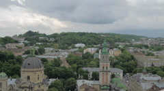 Ukraine, L'viv city .Timelapse. May 28, 2014 Stock Footage