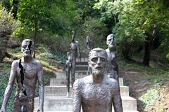 memorial to the victims of communism - stock photo