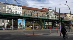 Prenzlauer Berg with train, UHD 4K - stock footage