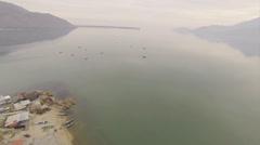 Above Lake Skadar Stock Footage