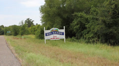 Sign at Big Sandy,Texas where burning is banned Stock Footage