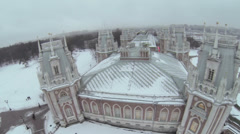 Palace complex of Catherine in Tsaritsyno at winter Stock Footage