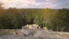 Tourists descending of the pyramid. Stock Footage