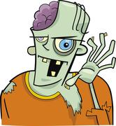 Stock Illustration of cartoon zombie