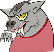 Stock Illustration of cartoon werewolf