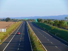Highway bypass the town of cheb in Czech republic Stock Photos
