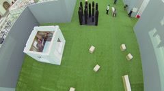 Festival of Architecture 2013 in exhibition center Gostiny Dvor Stock Footage