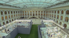 Stock Video Footage of Exhibition center Gostiny Dvor during Festival of Architecture 2013
