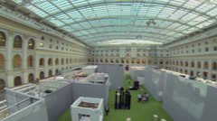 Stock Video Footage of Hall of exhibition center Gostiny Dvor