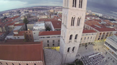 Above Zadar Stock Footage