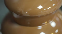 Chocolate fountain Macro Stock Footage
