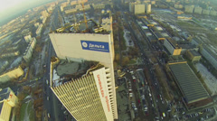 City panorama with districts North Izmailovo and Cherkizovo Stock Footage