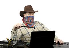 Stock Photo of blackmailer threatening with stolen usb flash drive