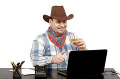 Cowboy tykkää musiikista videoleikkeen youtube Kuvituskuvat