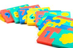 arithmetic game close up - stock photo