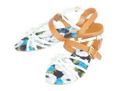 female sandal - stock photo